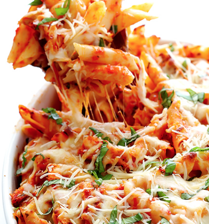 BAKED MOSTACCIOLI PARMESAN
